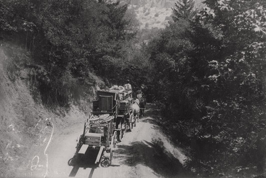 The old toll road connecting Calistoga to Lake County.