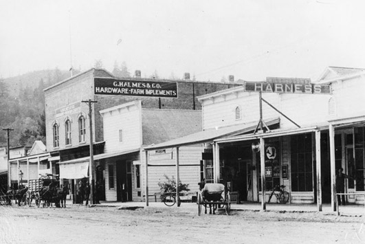 Calistoga's Main Street in the late 1800s.